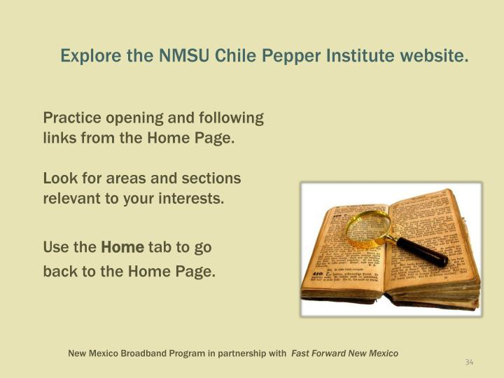 Explore the NMSU Chile Pepper Institute website.