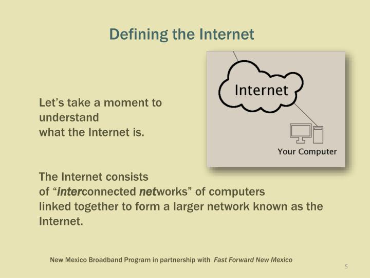 Defining the Internet