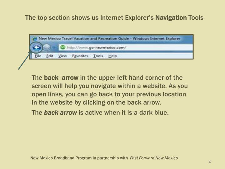 The top section shows us Internet Explorer's