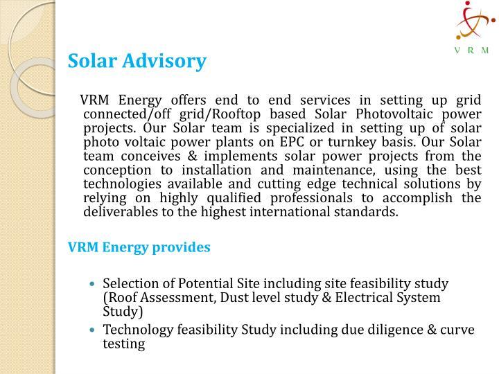 Solar Advisory