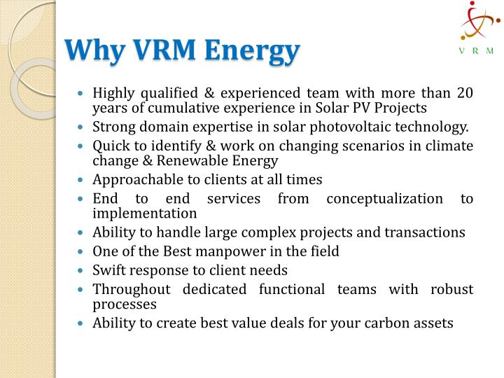 Why VRM Energy