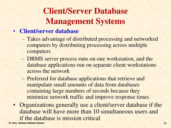 Client/Server Database