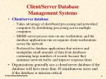 client server database management systems
