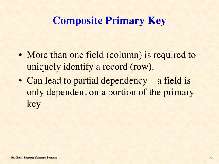 Composite Primary Key