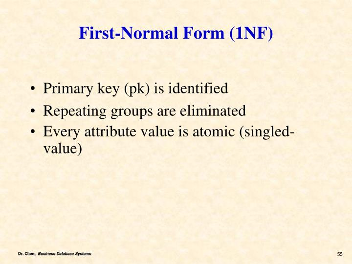First-Normal Form (1NF)