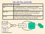 sql sql plus and pl sql