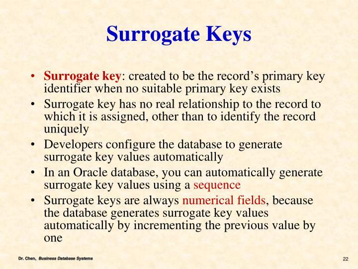 Surrogate Keys