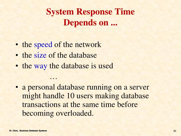 System Response Time