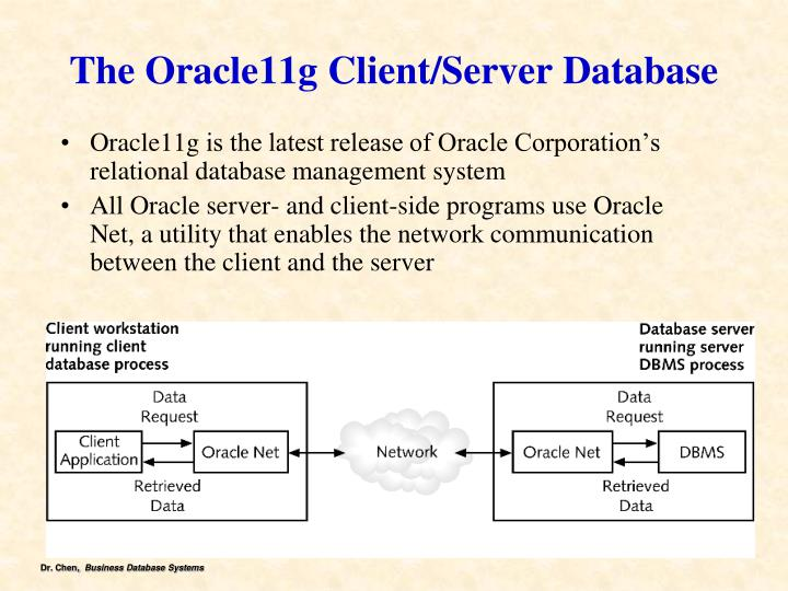 The Oracle11g Client/Server Database
