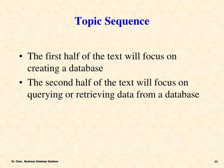 Topic Sequence