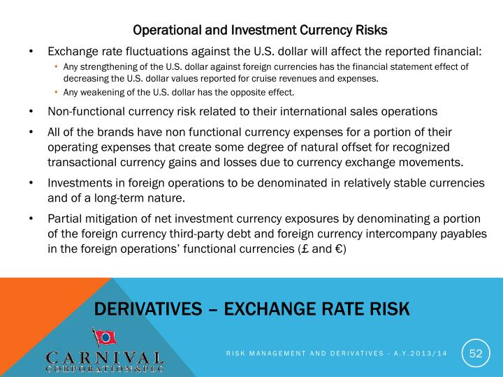 Operational and Investment Currency