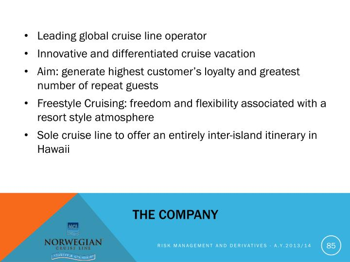 Leading global cruise line operator