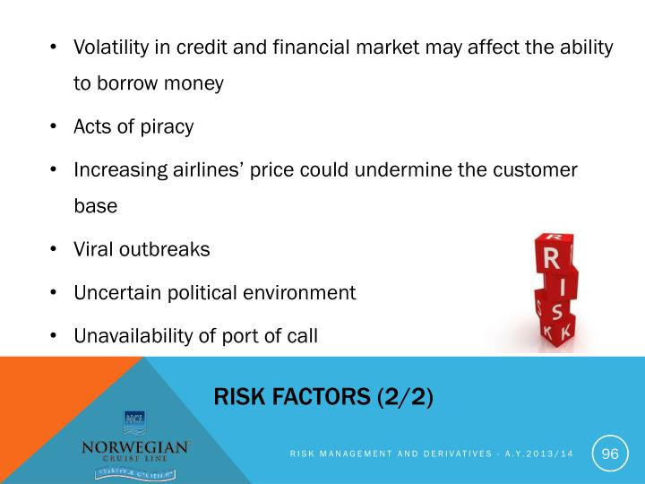 Volatility in credit and financial market may affect the ability to borrow money
