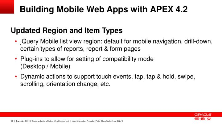 Building Mobile Web Apps with APEX