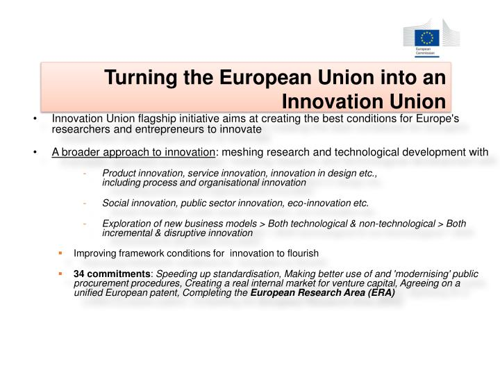 Turning the European Union into an Innovation Union