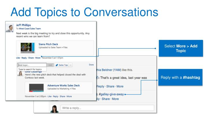 Add Topics to Conversations