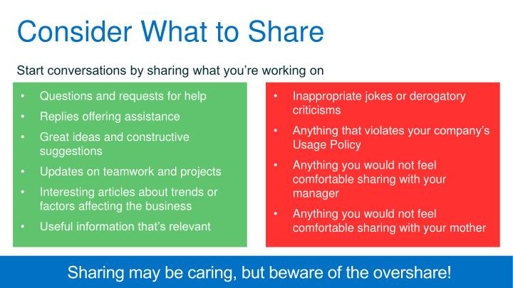 Consider What to Share