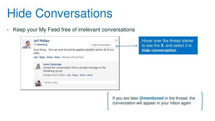 Hide Conversations