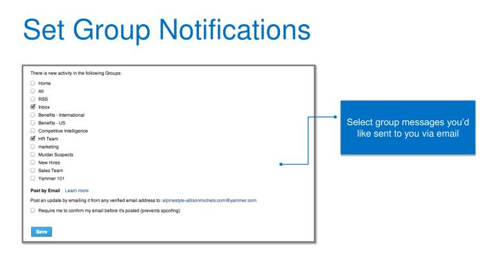 Set Group Notifications