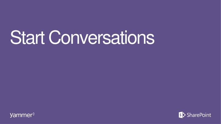 Start Conversations
