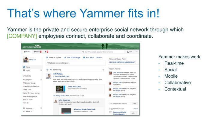 That's where Yammer fits in!