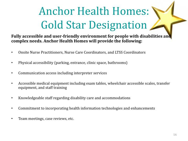 Anchor Health Homes: