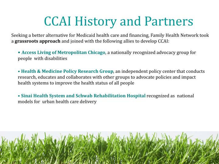CCAI History and Partners