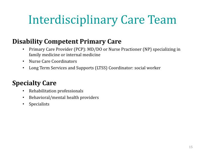 Interdisciplinary Care Team