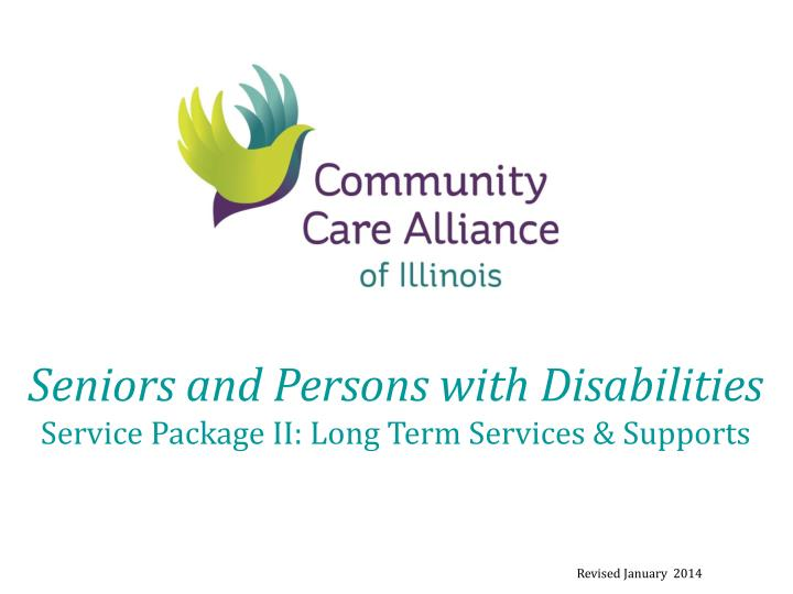 Seniors and Persons with Disabilities