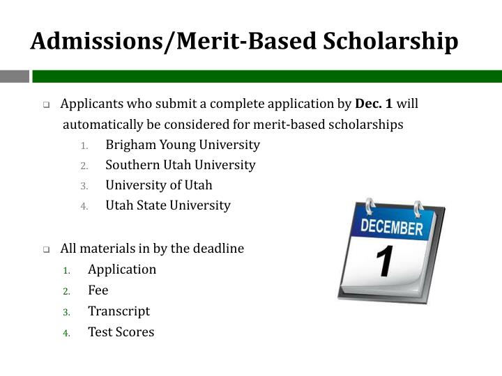 Admissions/Merit-Based Scholarship