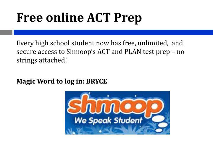 Free online ACT Prep