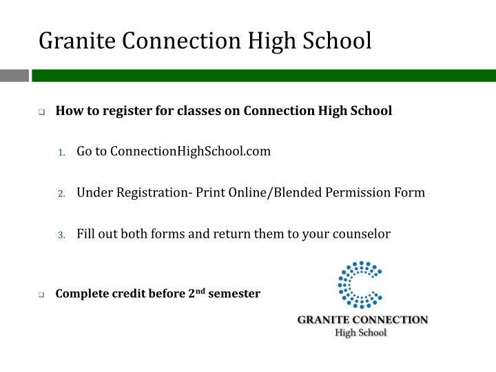 Granite Connection High School