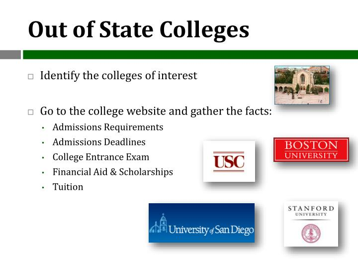 Out of State Colleges