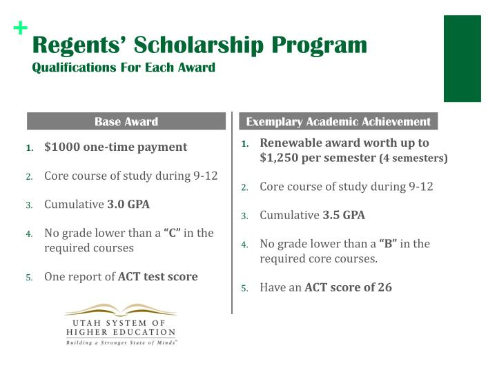 Regents' Scholarship Program
