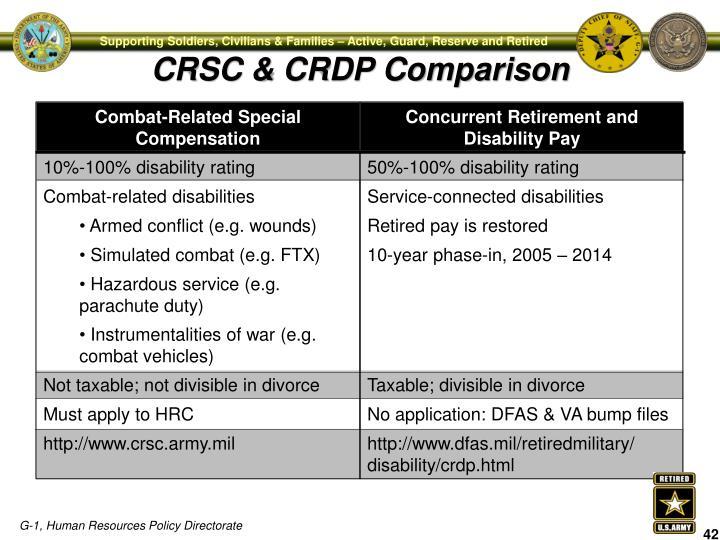 CRSC & CRDP Comparison