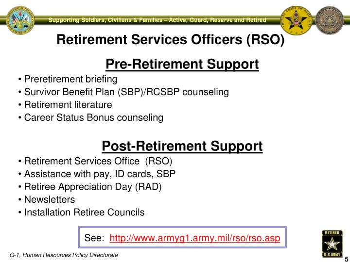 Pre-Retirement Support