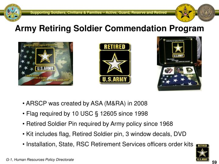 Army Retiring Soldier Commendation Program