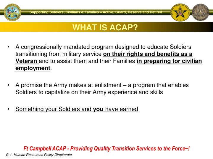 WHAT IS ACAP?