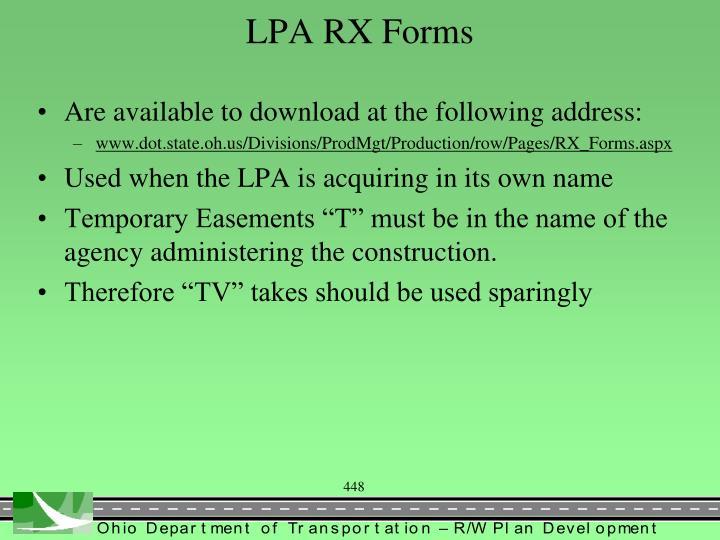 LPA RX Forms