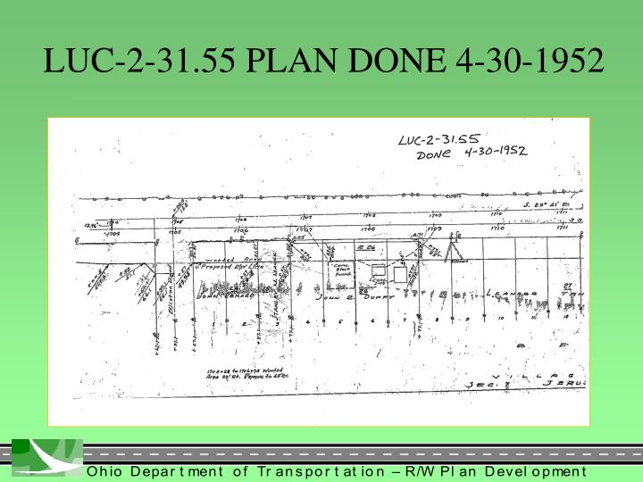 LUC-2-31.55 PLAN DONE 4-30-1952
