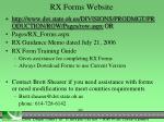 rx forms website