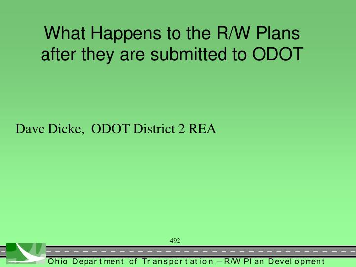 What Happens to the R/W Plans after they are submitted to ODOT