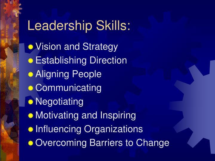 Leadership Skills: