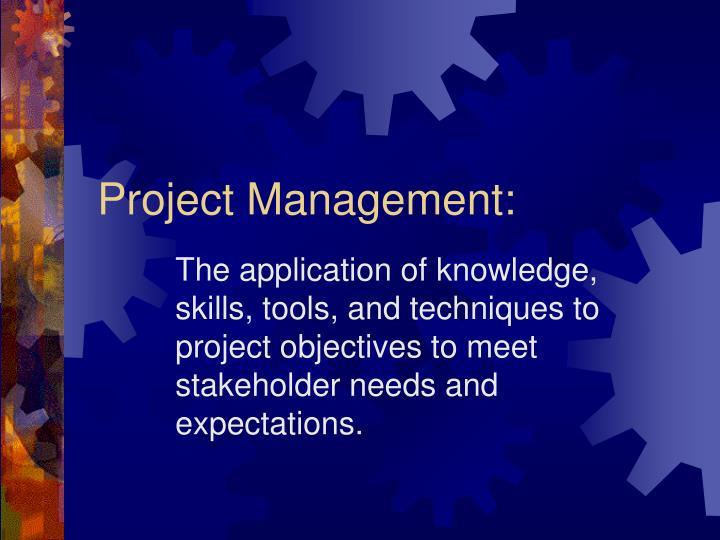 Project Management: