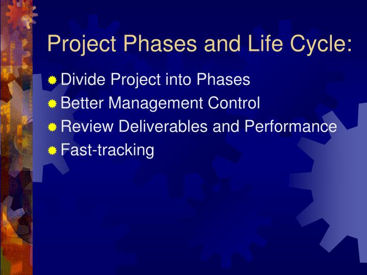 Project Phases and Life Cycle: