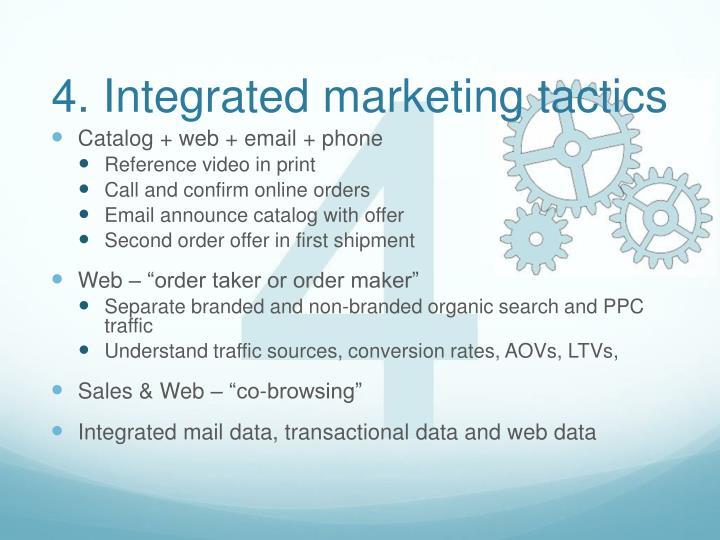 4. Integrated marketing tactics