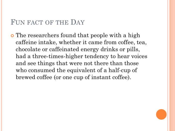 Fun fact of the Day