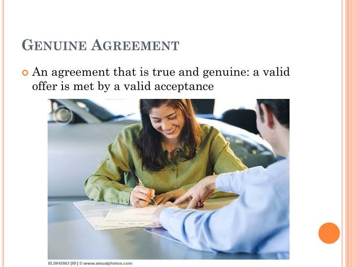 Genuine Agreement