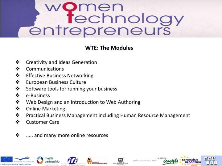 WTE: The Modules