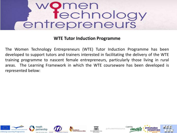 WTE Tutor Induction Programme